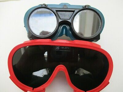 Pair Of Shade 5 Flip Front Welding Goggles & Pair Of Moulded Panorama Goggles • 11.99£