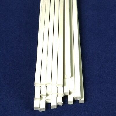 23x Solid White 4mm X 4mm Square Rod 250mm Long ABS Model Engineering Plastic • 14.99£