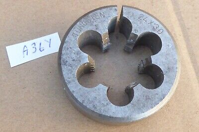 Tungsten M 24 X 3.0 Pitch Split Die 50mm Very Good Condition Tapered Lead In  • 8£