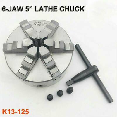 6-jaw 5  Lathe Chuck 125mm Self-Centering 3000rpm Metalworking Clamp Chuck • 89.39£
