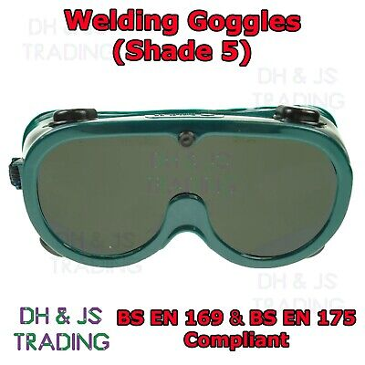 High Quality Shade 5 Welding Goggles - Gas Welding Burning Glasses Oxy Acetylene • 7.95£