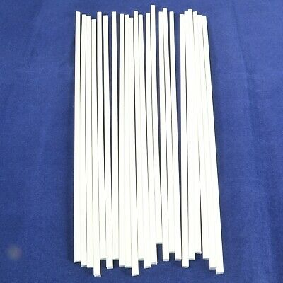 23x Solid White 4mm X 4mm Square 250mm Long ABS Model Engineering Plastic • 29.99£