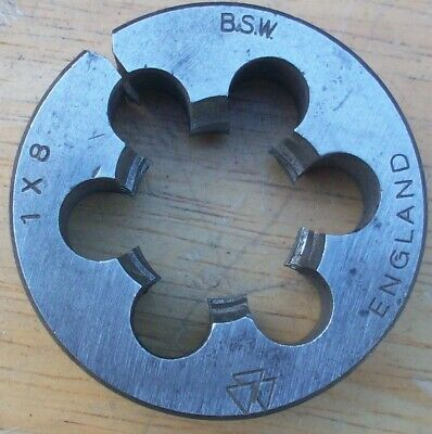 One Inch Bsw Whitworth Die ~ 1  X 11 Tpi ~ 2  O/d ~ Triangle British Made • 7.99£