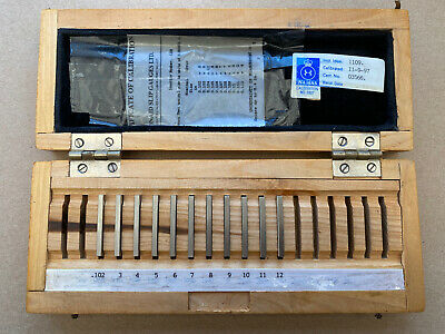 Small Set Of Imperial Slip Gauges In Wooden Box • 14.95£