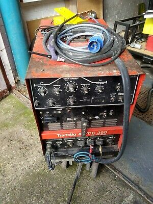 Transtig AC / DC TIG Welder 360 Square Wave With Foot Pedal & Torch • 320£