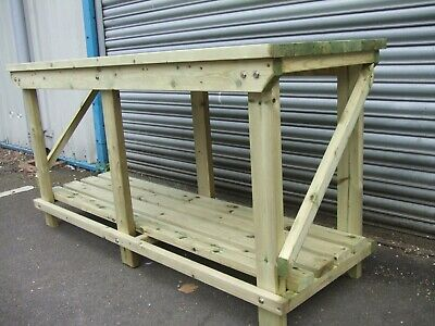 New Hand Made 4FT UPTO 10FT Solid Heavy Duty, Wooden Work Bench Table With Vice • 149£