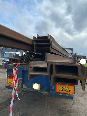NEW Old Stock Steel Lengths RSJ, Box, T Section Beam, Channel • 570£