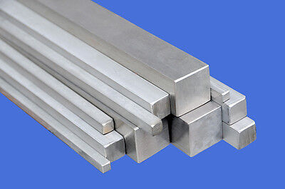 STAINLESS STEEL SQUARE BAR/ROD 10x10mm/8x8mm/6x6mm/4x4mm/3x3mm (in Many Lengths) • 12.92£
