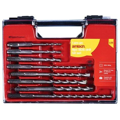 8pc SDS Drill Bit Set Storage Case DIY Power Tool Drilling SDS+ Masonry Bits • 10.49£