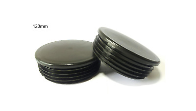 120mm- 10pcs Round Plastic Black Blanking End Cap Caps Tube Pipe Inserts Plug  • 24.68£