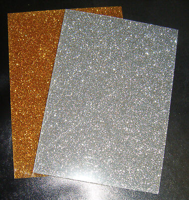 Gold/Silver Glitter Sparkle Acrylic Sheet A5/A4/offcut 3mm Thick Laser Crafts  • 10£