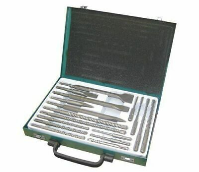 17pc Sds Drill Bits Flat Centre Chisel Bits Set With Storage Case • 24.99£