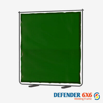 Defender 6x6 Welding Curtain & Frame In Green 6FTw X 6FTh  • 89.94£