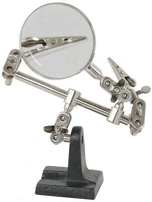 Mercury 710.165 Helping Hands Soldering Work Holder Clips 3x Magnification Metal • 8.79£