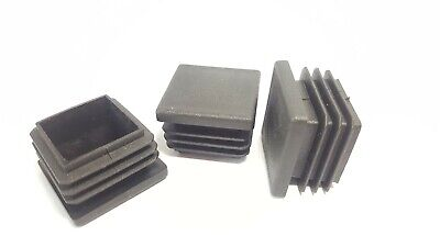 25x25mm -100 Square Plastic Grey Blanking End Caps Tube Pipe Inserts Plug Bung • 17.26£