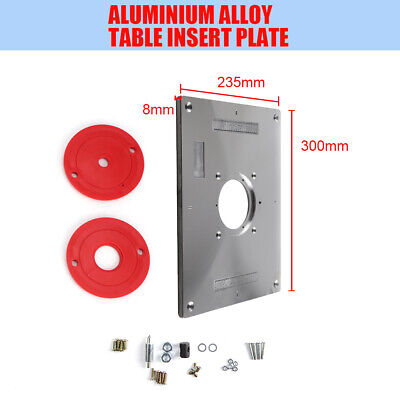 Aluminum Router Table Insert Plate 235 X 300 X 8mm With Ring For Woodworking UK • 21.99£