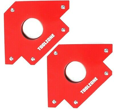 2x 75lb Welding Magnet Large Heavy Duty Right Angle Square Holder Soldering New • 11.99£