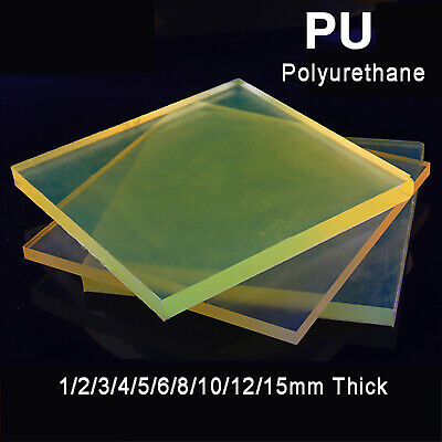 Square Polyurethane Sheet PU Board Damping Plate Pad Elastic Mat 1mm~15mm Thick • 47.55£