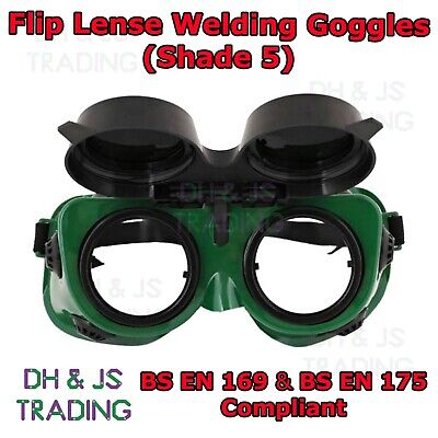 High Quality Shade 5 Flip Front Welding Goggles - Gas Welding Burning Flip Lens • 9.95£