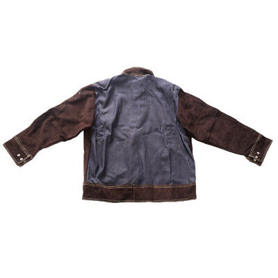 Anti-scald Cowhide Leather Welding Jacket/Trousers Protective Welding Suits XXL • 44.35£