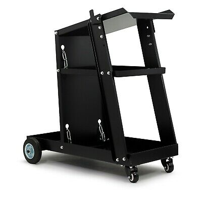 Welding Cart Universal Trolley For Welding, Bottle, MIG TIG PLASMA With Chains • 67.99£