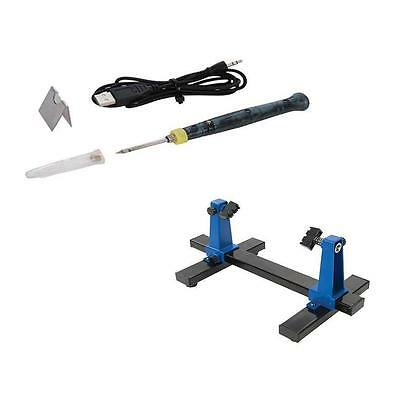 Universal Pcb Board Clamping Kit And Usb Soldering Iron Solder Electronics • 18.10£