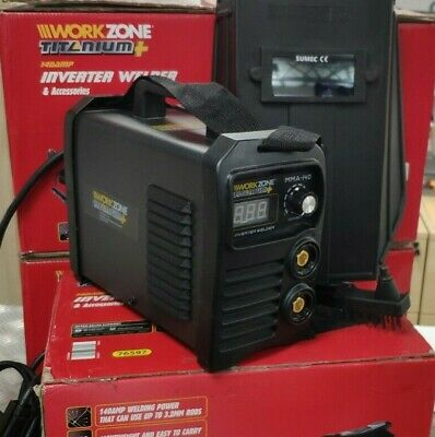 Work Zone Titanium Inverter Welder 140 Amp & Accessories • 99.99£