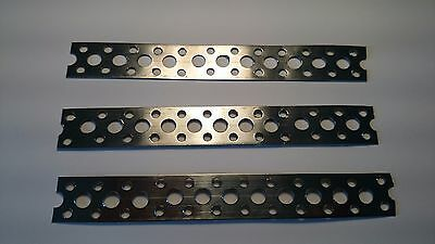 Stainless Steel Metal Punched Perforated Fixing Strip Strap 150x20x0.6  3 Off • 3.90£