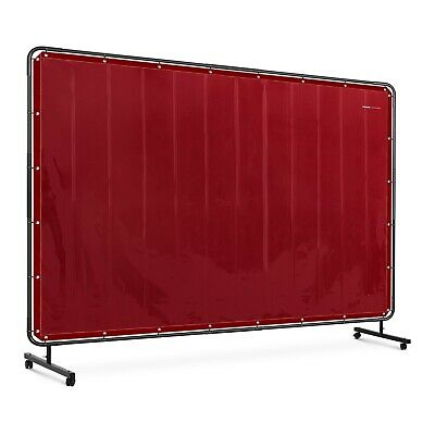 Vinyl Welding Screen Welding Curtain + Frame Wheels Flame Retardant 239x196cm • 115£