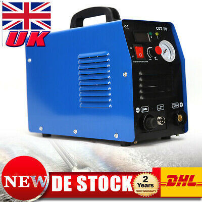 CUT-50, 50 Amp Plasma Cutter HF Inverter Digital Plasma Cutting Machine IGBT EUR • 138£