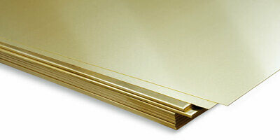 Brass Sheet Plate Guillotine Offcuts - 0.3mm To 3.0mm - Multiple Sizes • 65£