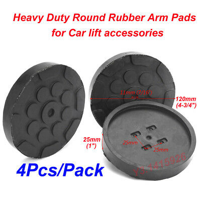 4Pcs Black Heavy Duty Round Rubber Arm Pads For Car Lift Accessories Dia: 120mm • 25.98£