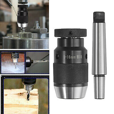 MT3 -B18 +1-16mm Self Tighten Keyless Lathe Drill Chuck Arbor For Lathe MK3 UK • 19.25£