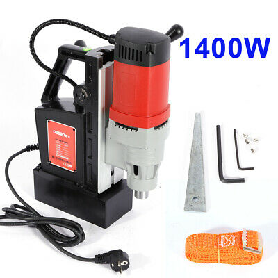220V 1400W Industrial Magnetic Base Drill Metal Drill Press Set 13000N Mag Force • 155£