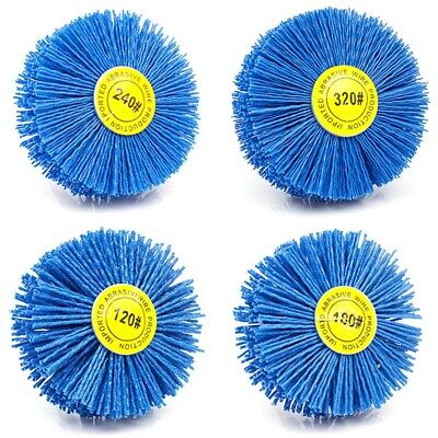 1X(4 Pieces 80x30x6Mm Drill Abrasive Wire Grinding Wheel Nylon Bristle PoliW6N4) • 14.55£