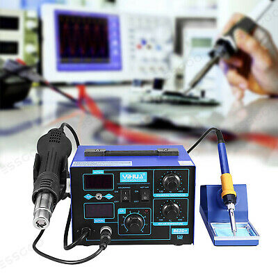 2 In 1 862D+ SMD 4 Nozzle Hot Air Gun Soldering Iron Station Rework Welder 700W • 71.87£