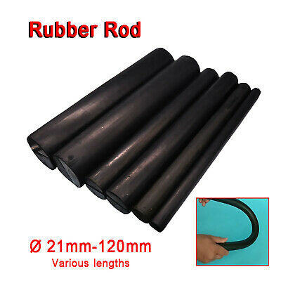 Black Rubber Round Solid Bar Rod Ø 21/25/30/35/40/45/50/55/60/65/80/100~120mm • 16.99£