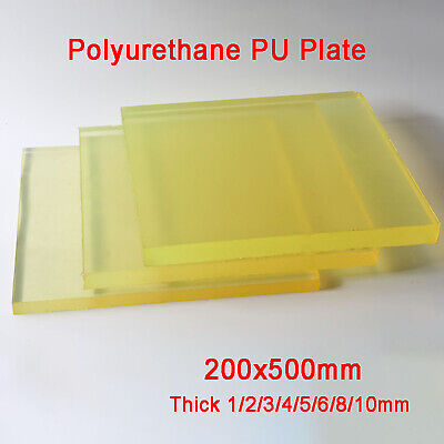 Polyurethane Sheet PU Plate Pad Mat Oil-resistant High Elasticity 200mm×500mm • 21.29£