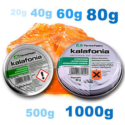 COLOPHONY - HIGH Purity FLUX ROSIN 20-1000g For Electronics SMD Solder • 16.99£