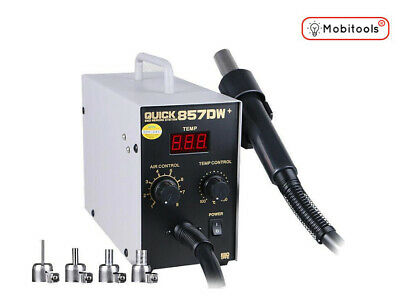 QUICK 857DW+ 580W Adjustable Hot Air Heat Gun SMD Soldering Rework Station - UK • 105£