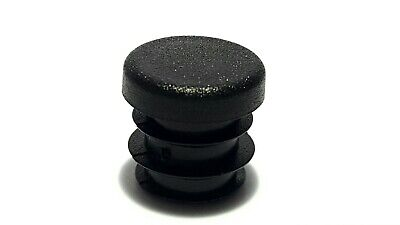 15mm- 10pcs Round Plastic Black Blanking End Cap Caps Tube Pipe Inserts Plug  • 1.87£