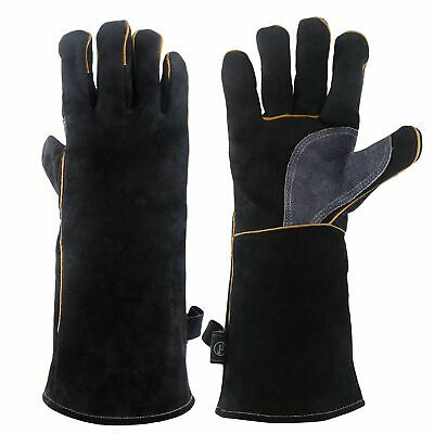 Welding Gloves Extra Long High Quality Real Leather Safety 40cm  • 11.99£