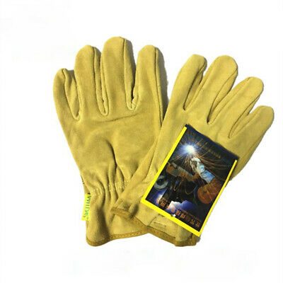 Welding Gloves Short Style Real Leather Safety 23cm Length • 8.99£