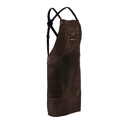 Leather Welding Apron Cowhide Welders Apron Personal Protective Gear Size XL • 34.99£