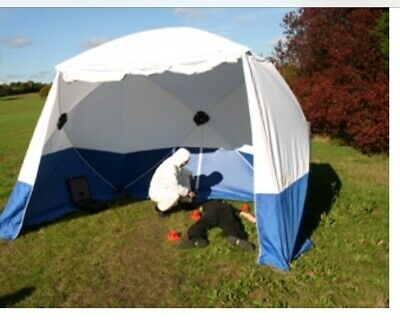Police Forensic CSI Pop Up Work Tent Shelter Weekly Hire. • 250£