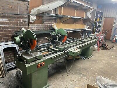 WEGOMA DOUBLE MITE SAW SD15 IN USE 3 PHASE 3.3m BED £2000 Ono • 2,000£
