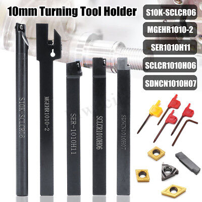 5Pcs 10MM Shank Turning Tool Holder Set With InsertWrench For Bench • 81.99£