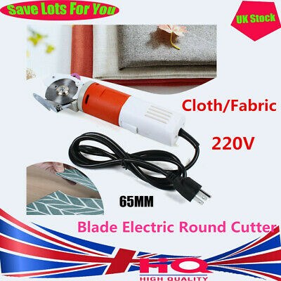 65mm Rotary Blade Electric Round Cutter Cloth Fabric Cutting Machine Dressmaker • 45.53£