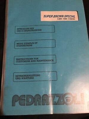 Operating Instructions For Pedrazzoli Super Brown Special C.020 - C030 -C180/001 • 11£