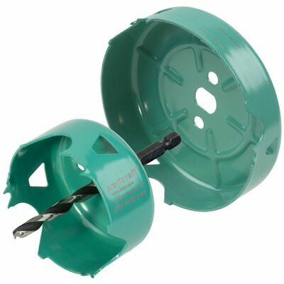 Wolfcraft 2 Piece Hole Saw Set Carbon Steel Turquoise Drill Accessory 5974000 • 35.18£